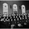 La Verne College Chapel Choir, 1952
