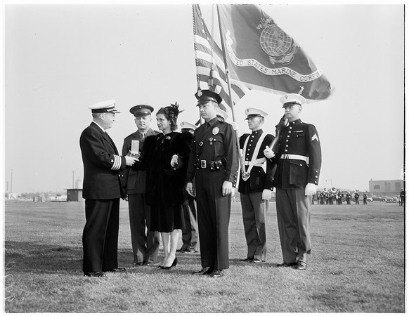 Medal awards (San Pedro Naval Air Base), 1952