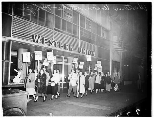 Western Union strike (741 South Flower Street), 1952
