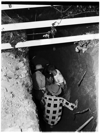 Cave-in (sewer) Altadena, 1952