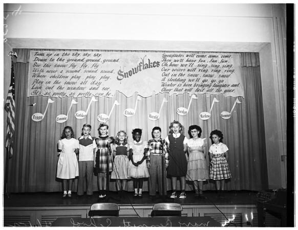 Deaf children singing at Mary Bennett School, 1952