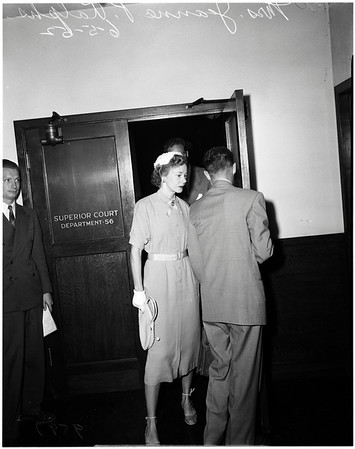 Ralphs alimony hearing, 1952