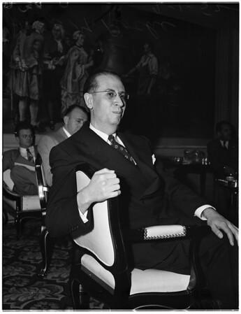 Cadillac Motor Car press conference, 1952