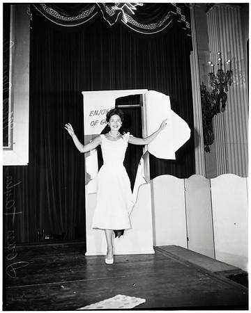 Miss June dairy queen, 1952