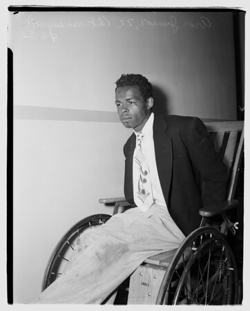 Hit -- run suspect ...Georgia Street Receiving Hospital, 1952