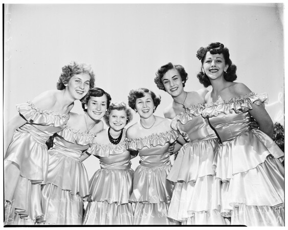 San Fernando fiesta queen contestants, 1952