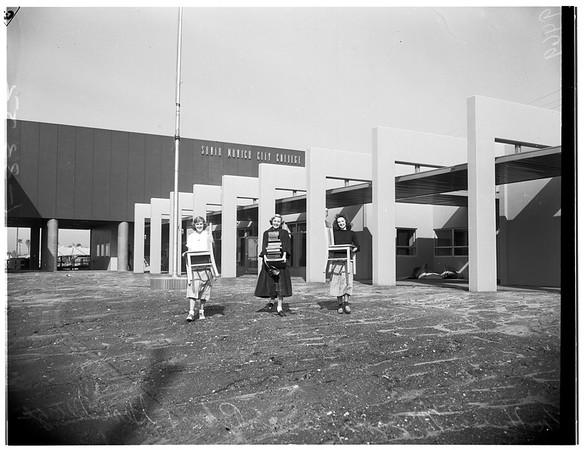 Santa Monica City College moving, 1952