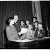 Boy Scouts who found missing girl (Anita Reina), 1952