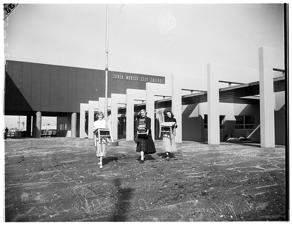 Santa Monica City College moving, 1952