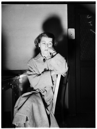 Overdose of sleeping pills, 1952