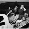 Old racing cars at San Gabriel... Horseless carriage club, 1952