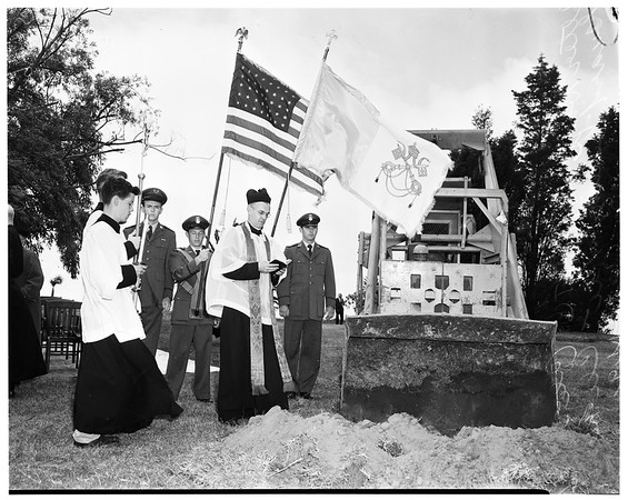 Ground-breaking of new chapel at Loyola University, 1952