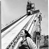 Morris Dam... San Gabriel Canyon... United States Navy Ordinance Test Station, Variable angle launcher... Pontoon Bridge... Tower, etc., 1952