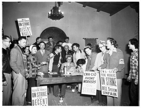 Telephone Strike (911 Venice Boulevard and 433 South Olive Street, 1952