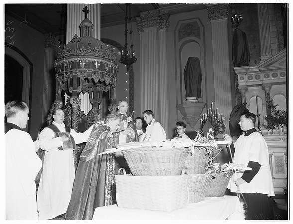 Palm Sunday at Saint Vibiana's Cathedral, 1952