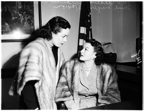 Divorce... Johnny Mercer, oil man (not in picture), being divorced, 1952