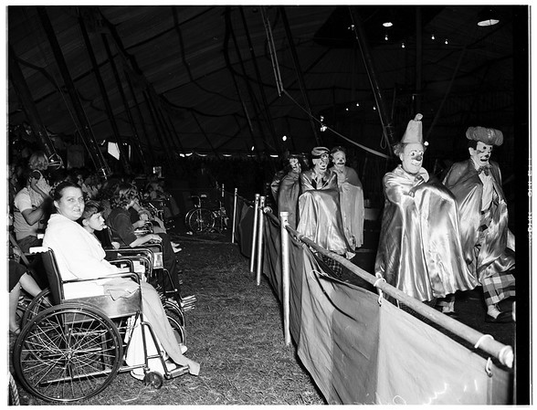 Polio patients at Clyde Beatty Circus, 1952