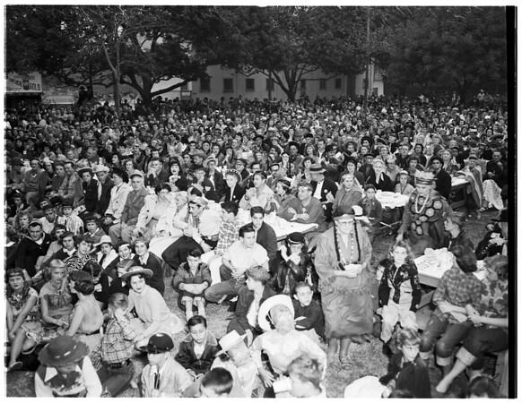 Halloween breakfast and festival (Anaheim),  1952