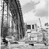 Arroyo Seco Bridge in Pasadena, under construction, 1952