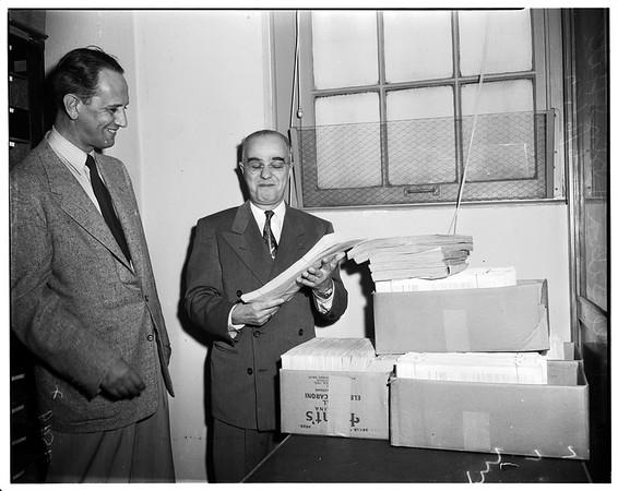 Registrar of voters, 1952