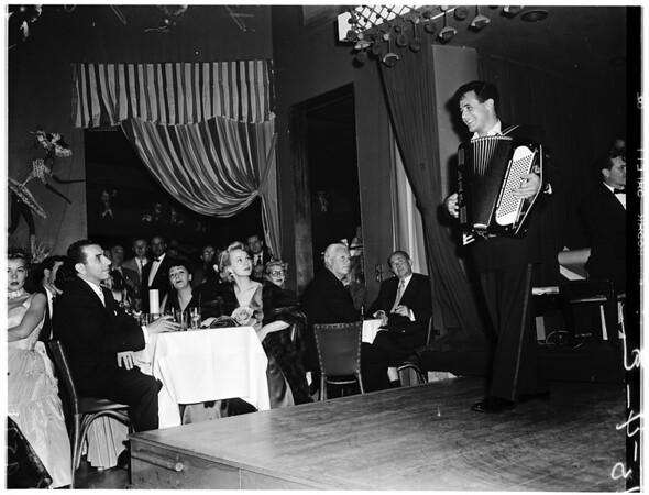 Dick Contino at Mocambo, 1952