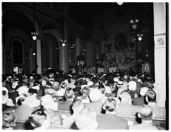 Easter Services (Saint Vibiana's Cathedral), 1952
