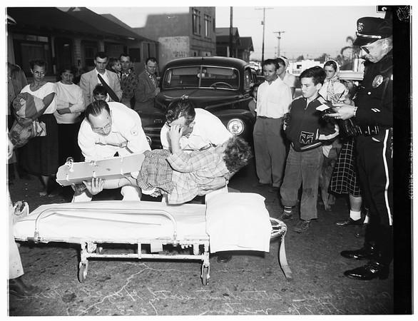 Child pedestrian hit ...Venice, 1952