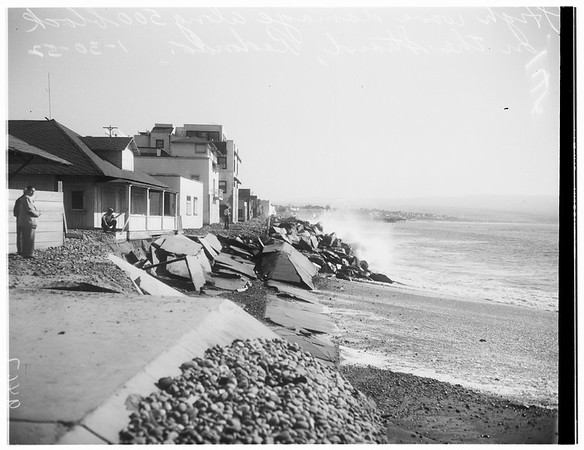 Redondo Beach high waves, 1952