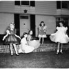 Glendale campfire girls council planning fashion tea, 1952