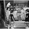 Halloween windows (Pasadena), 1952