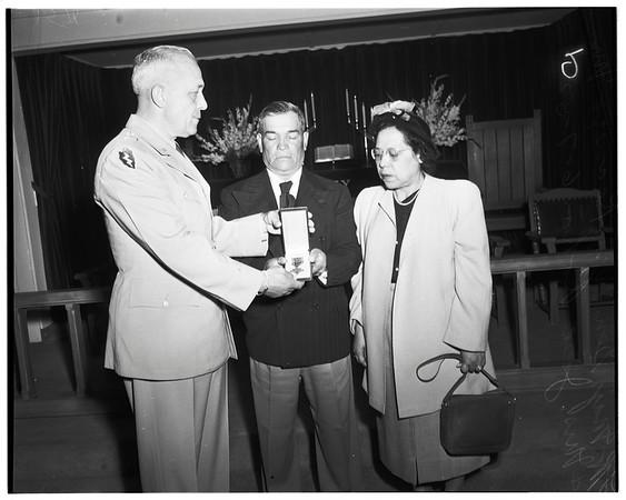 Awards, Fort MacArthur, 1952
