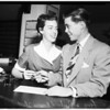 Marriage license application, 1952