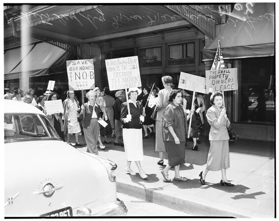 "Proposition ""B"" pickets, 1952"
