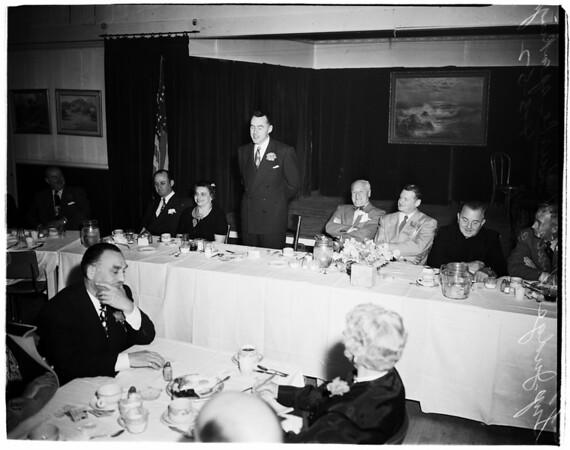 Testimonial breakfast for Superior Court Judge... at Montebello... Native son, 1952