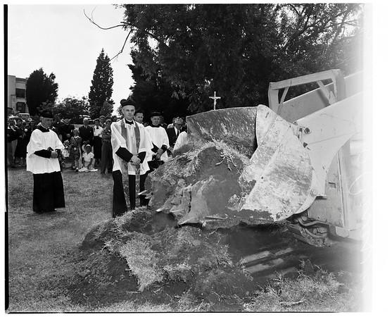 Ground-breaking of new chapel at Loyola University, 1952