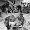 Cave-in accident and death in Maywood, 1952