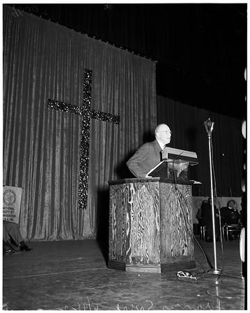 Christian rally at Shrine Auditorium, 1952
