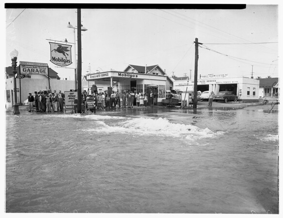 Broken water main, 1952