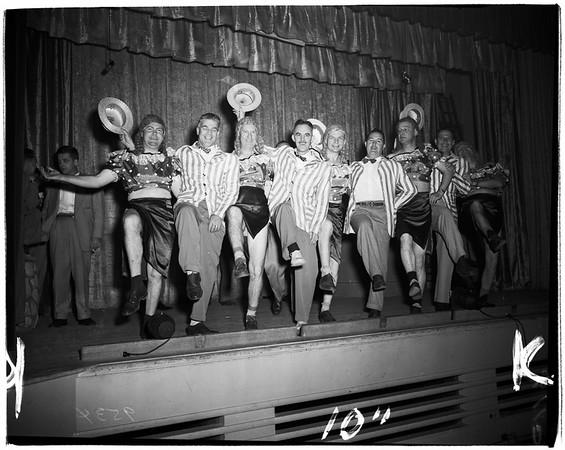 "San Marino Parent Teacher Association annual men's show... ""Pop Tours America"", 1952"