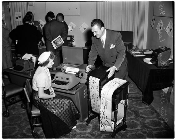 Business machine show (counting machine), 1952