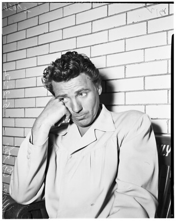 Arrested on drunk driving charge, 1952