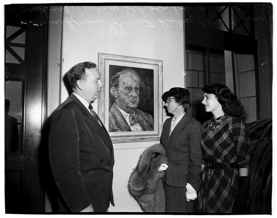 George and Ira Gershwin art exhibit at City Hall Tower, 1952