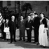 Greek Independence Day (City Hall steps), 1952