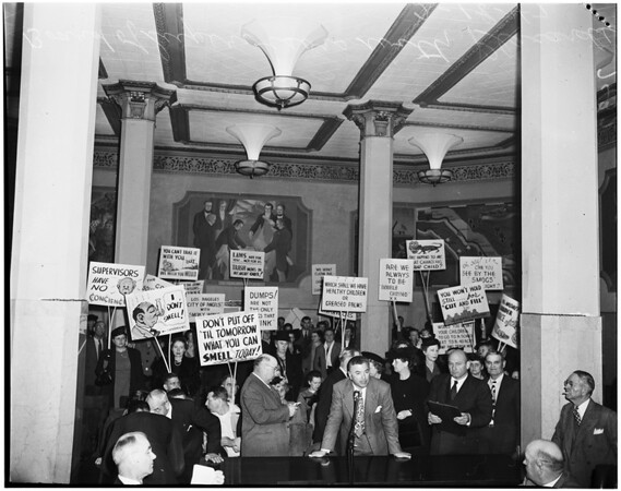 Smog protestants, 1947