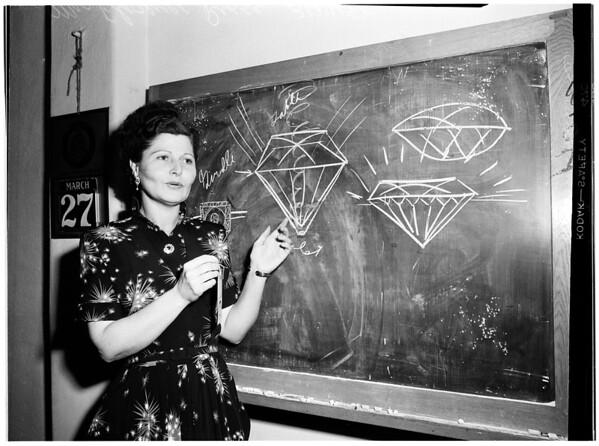 Diamond in litigation, 1952