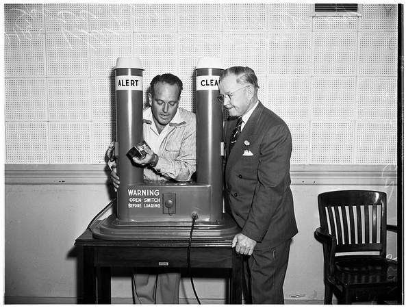 New air raid warning launcher, 1952
