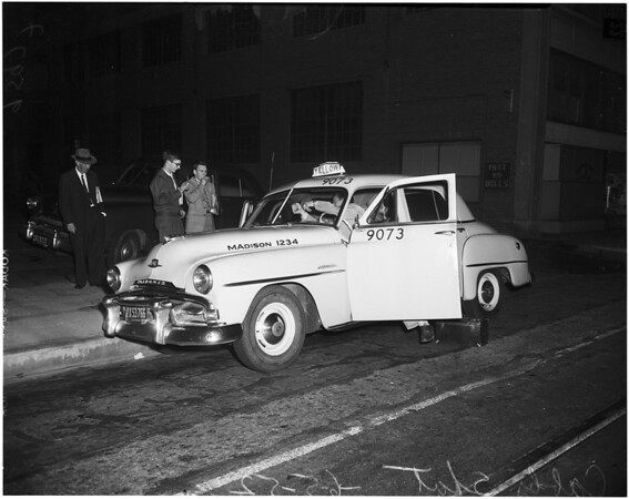 Cab driver shot in West Los Angeles, 1952