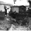 Open storm drain (841 El Paso Drive, Highland Park), 1952