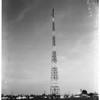 KFVD Radio tower being painted... 5526 East Cortland Street, 1952