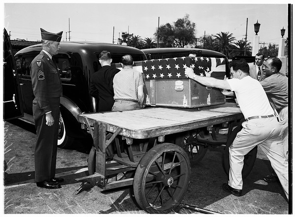 Kenneth Kaiser funeral... First of California's 40th Division to be killed in action, 1952